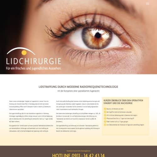 SITEKICK · WERBEAGENTUR · NÜRNBERG lidchirurgie-screenshot-500x500